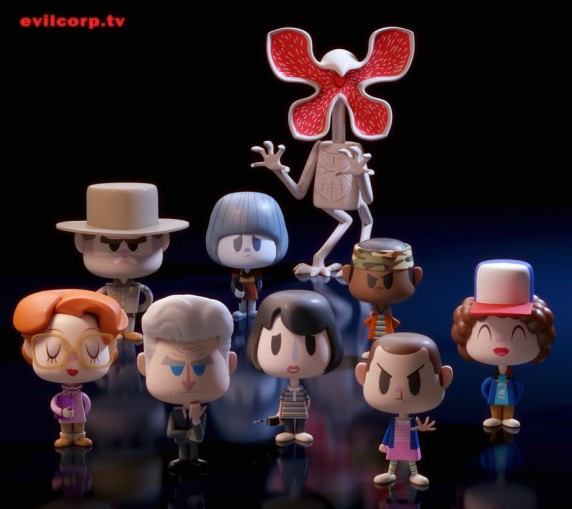 These Unofficial Stranger Things Vinyl Figures Are
