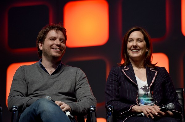 Gareth Edwards and Kathleen Kennedy. Image via Collider