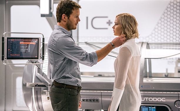 passengers, chris pratt, jennifer lawrence, sony pictures, sci-fi, michael sheen