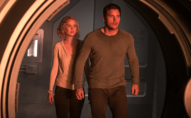 passengers, sci fi, chris pratt, jennifer lawrence, sony pictures