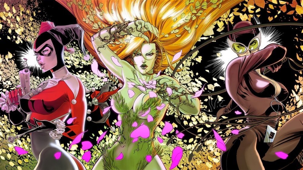 gotham-city-sirens harley, catwoman, poison ivy