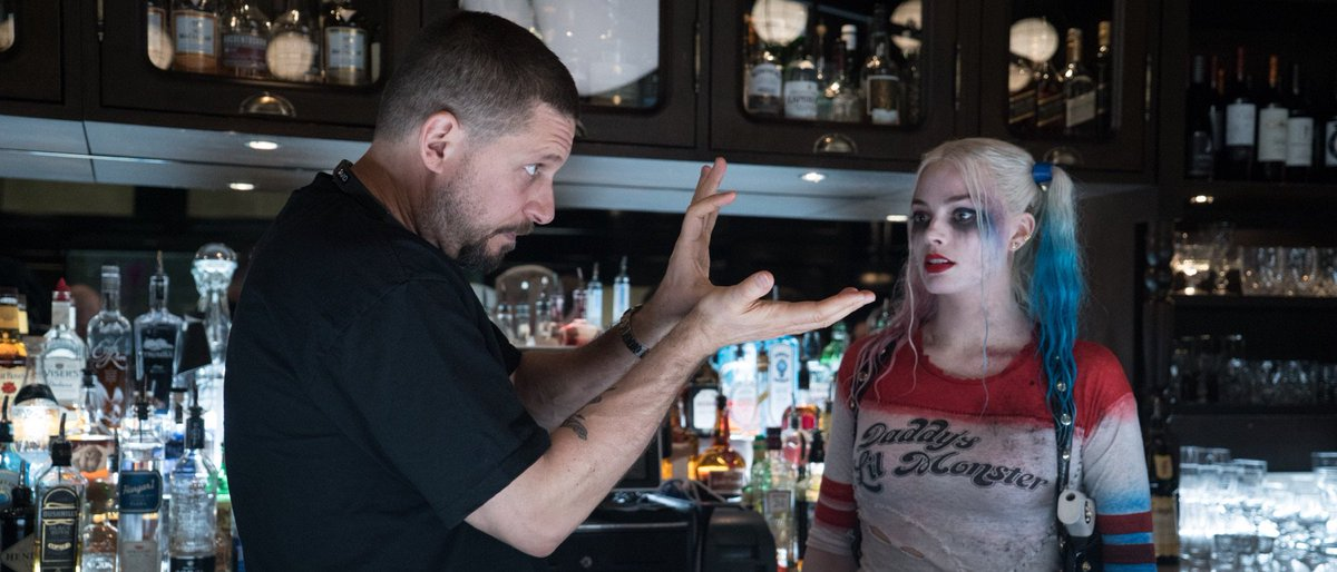 david ayer and margot robbie suicide squad
