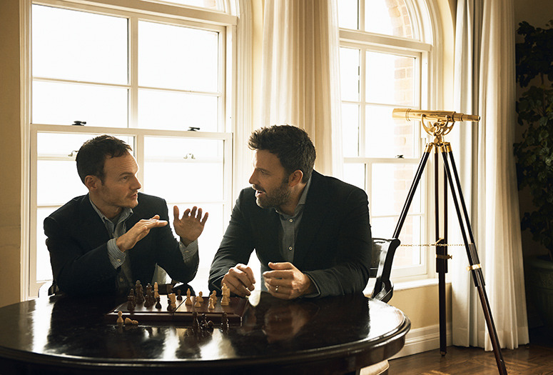 Chris Terrio and Ben Affleck