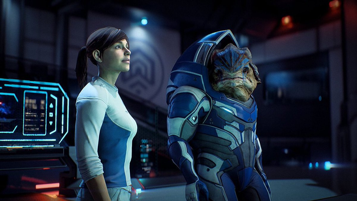 Sarah Ryder and Krogan