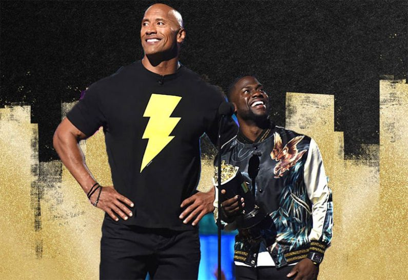 Rock-in-Black-Adam-shirt-with-Kevin-Hart