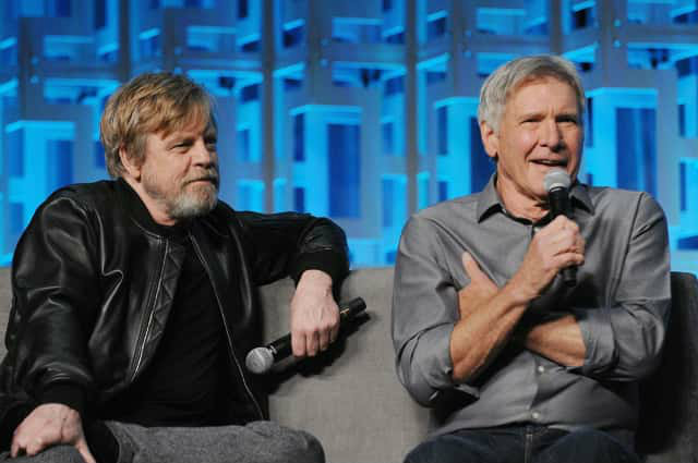 Harriosn Ford and Mark Hamill Star Wars Celebration