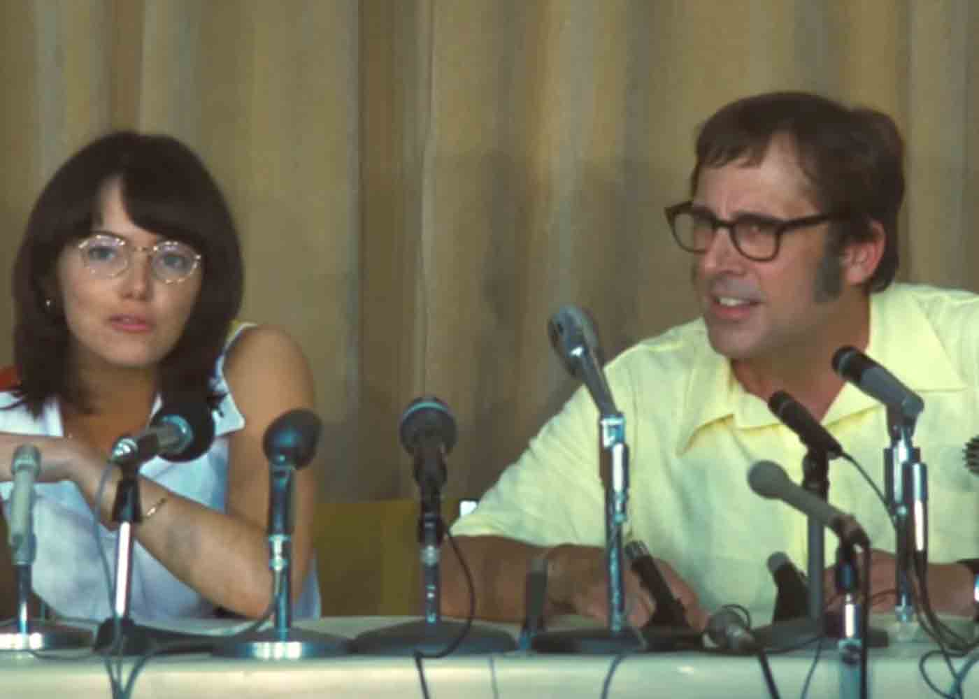 New Trailer for Battle of the Sexes, Starring Emma Stone & Steve Carell