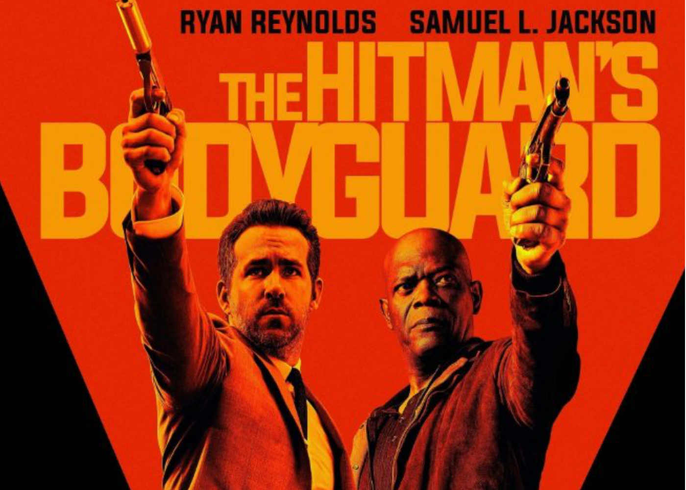 Its Gags and Guns in the UK trailer for The Hitman's Bodyguard
