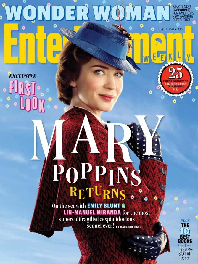 Mary Poppins Returns, Emily Blunt, EW Cover