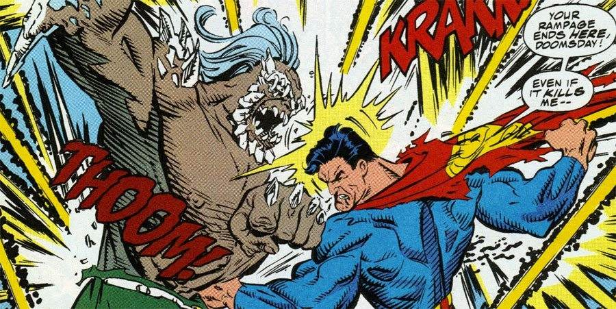 Doomsday and Supes in The Death of Superman