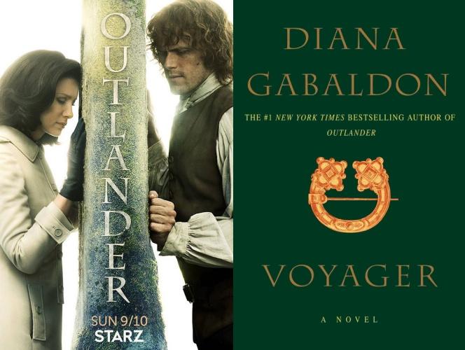 reading list, outlander, voyager, diana gabaldon, Caitriona Balfe, Sam Heughan