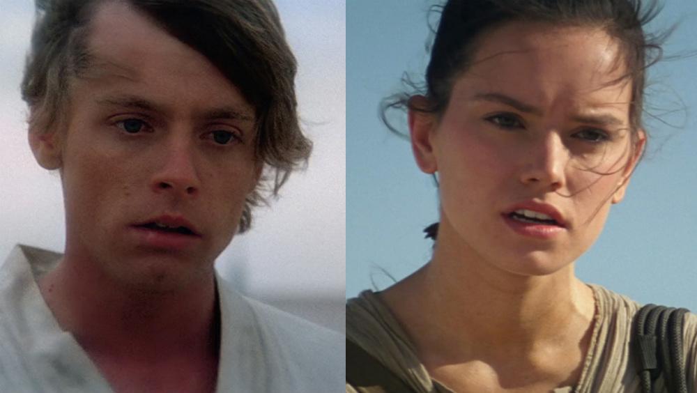 rey, luke skywalker, star wars