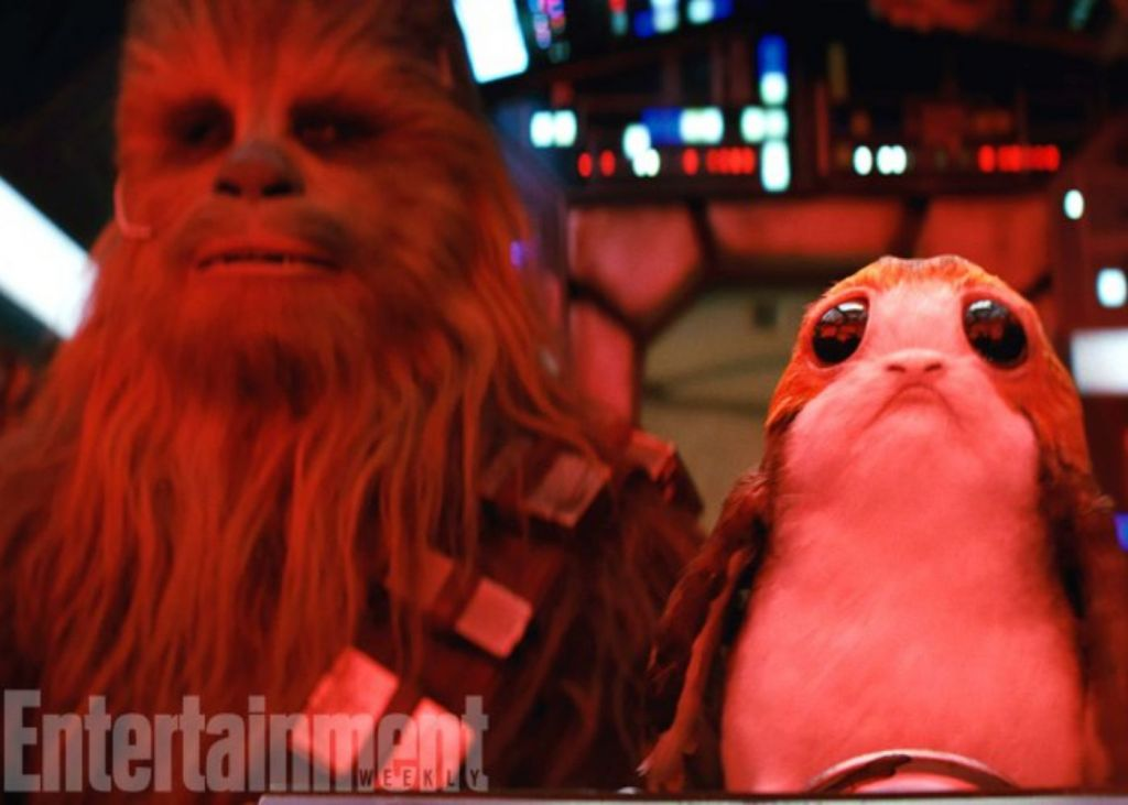 star wars, porg, chewbacca