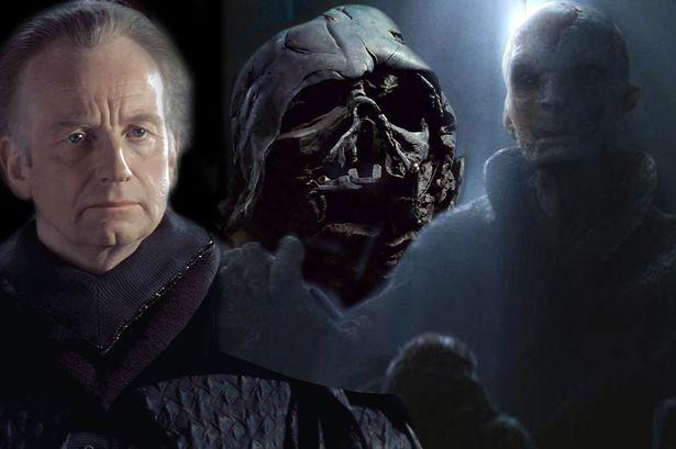 star wars, snoke, darth vader, palpatine