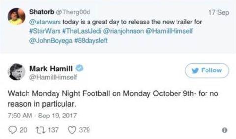 Star Wars Tickers, Mark Hamill, The Last Jedi