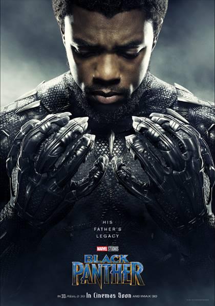 CHADWICK BOSEMAN AS T'CALLA/BLACK PANTHER- Black Panther