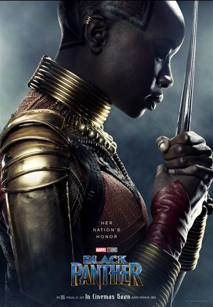 DANAI GURIRA AS OKOYE-Black Panther