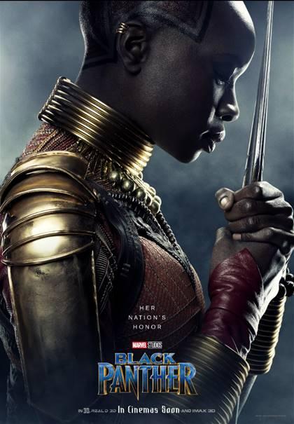 DANAI GURIRA AS OKOYE-Black Panther