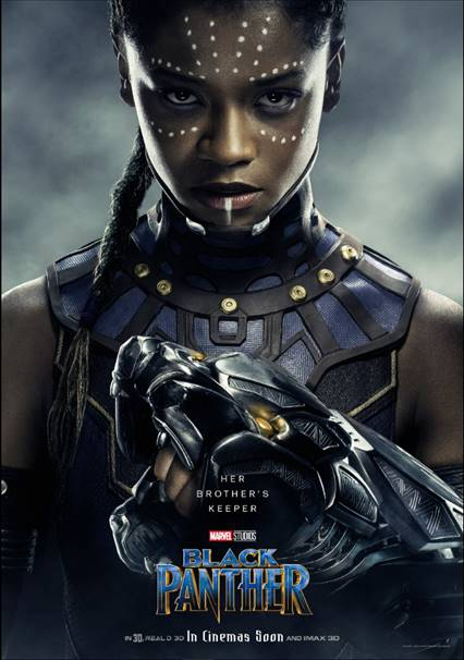 LETITIA WRIGHT AS SHURI -Black Panther