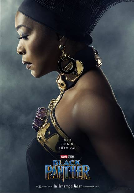 ANGELA BASSETT AS RAMONDA- Black Panther