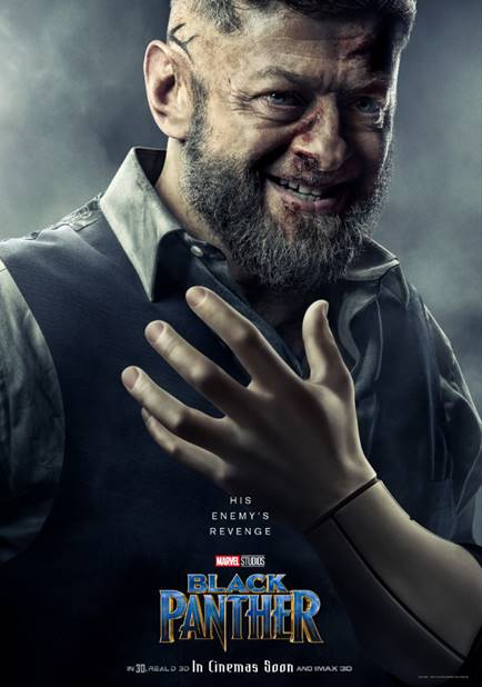 ANDY SERKIS AS ULYSSES KLAUE / KLAW- Black Panther