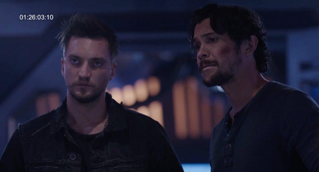 The 100 Season 5 Bellamy and Murphy
