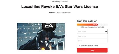 LucasFilm EA petition