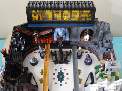 Someone Made A Full-Sized Lego Lord of The Rings Pinball Machine And It Is Glorious