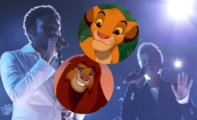 Lion King Reboot: Watch Old and Young Simba Sing Together at the Grammys