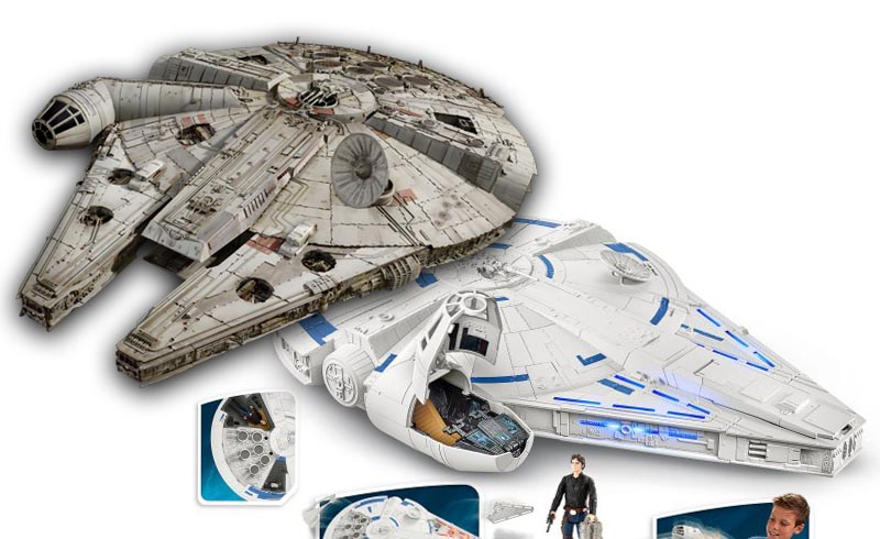 "Solo: A Star Wars Story Toy Explains How the Millennium Falcon Will Get its Trademark ""Prongs"""