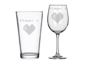 Player 1 and Player 2 Glasses Valentines Day Gifts