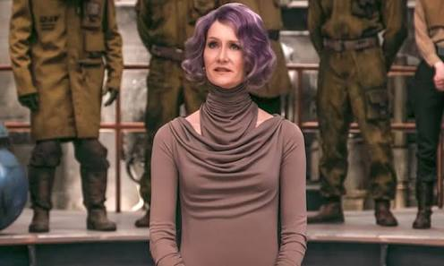 "Laura Dern Made ""Pew!"" Sounds While Playing Vice Admiral Holdo"