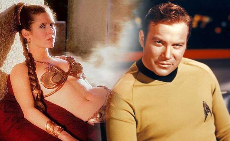 William Shatner: Carrie Fisher Asked Him to Sign a Slave Leia Picture