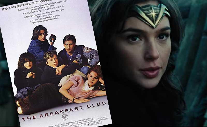 The Cast of Wonder Woman Embrace the 80s in Breakfast Club Parody Photo