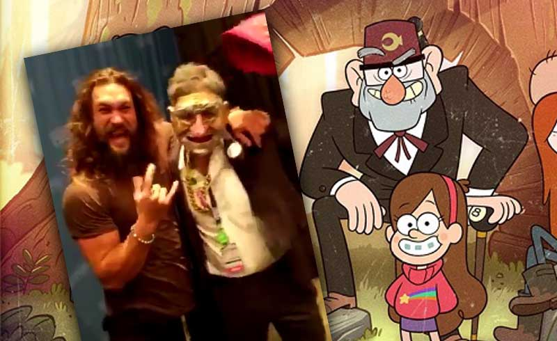 Mark Ruffalo Surprises Jason Momoa at NYCC 2018 Disguised as Grunkle Stan from Gravity Falls