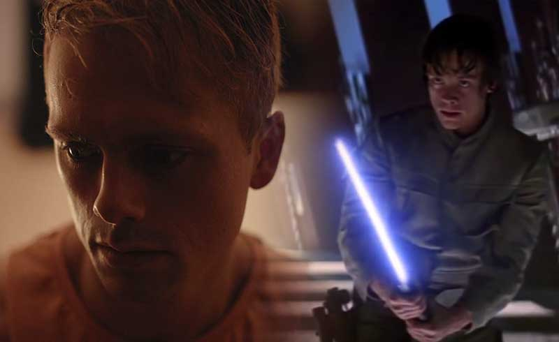 Star Wars: The Force Awakens BTS Photo Reveals Young Luke Skywalker played by Robert Boulter