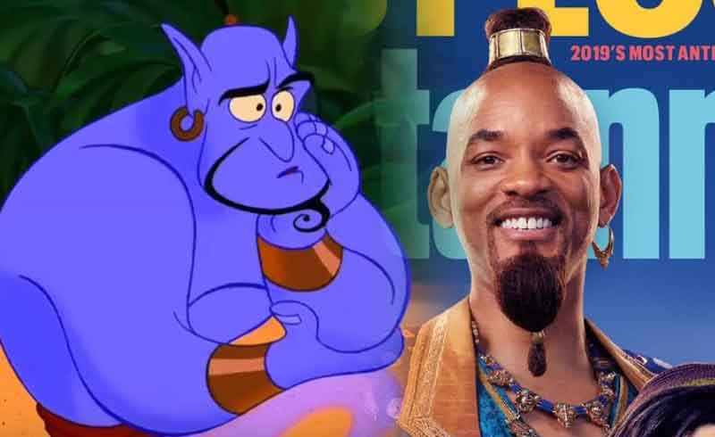 Aladdin: Will Smith's Look as the Cartoon-Accurate Genie Possibly Revealed