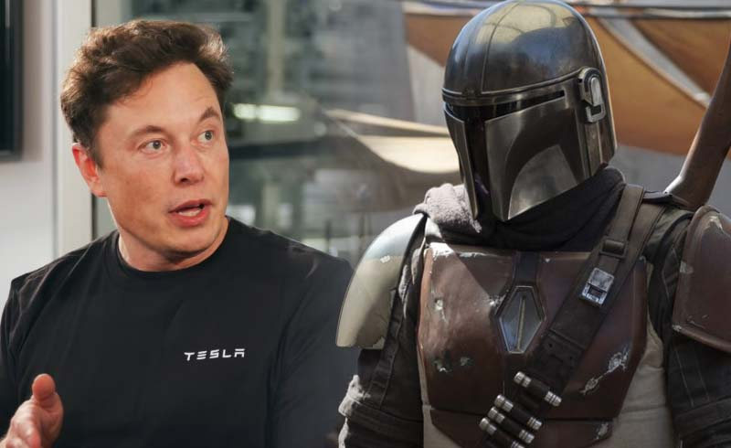 Elon Musk Paid a Visit to the Set of Star Wars: The Mandalorian