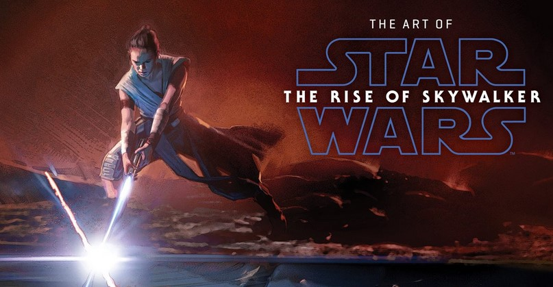 Cover for The Art of Star Wars: The Rise of Skywalker has Rey Duelling Kylo