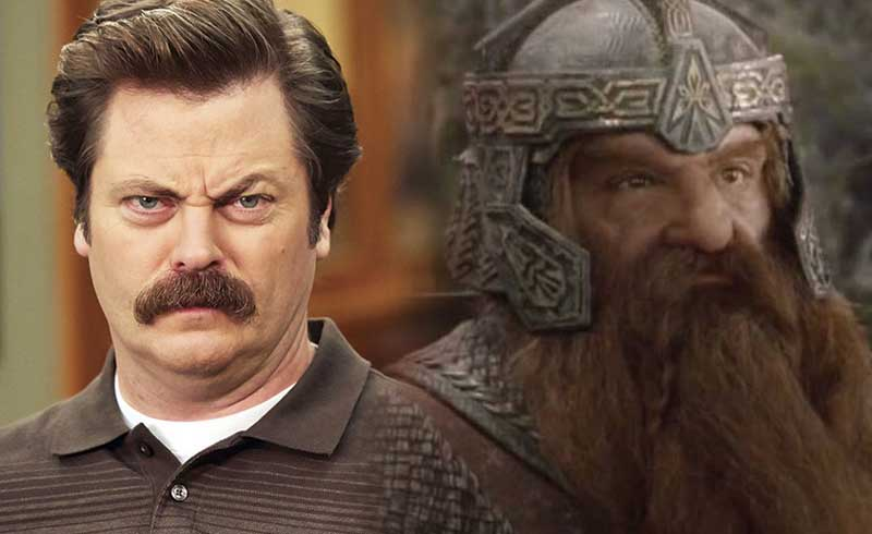 Nick Offerman Reveals He Auditioned to Play Gimli in Lord of the Rings