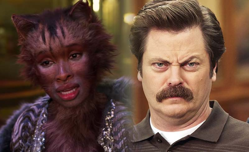 Nick Offerman is Up for a Cats Movie with Him Playing Every Character