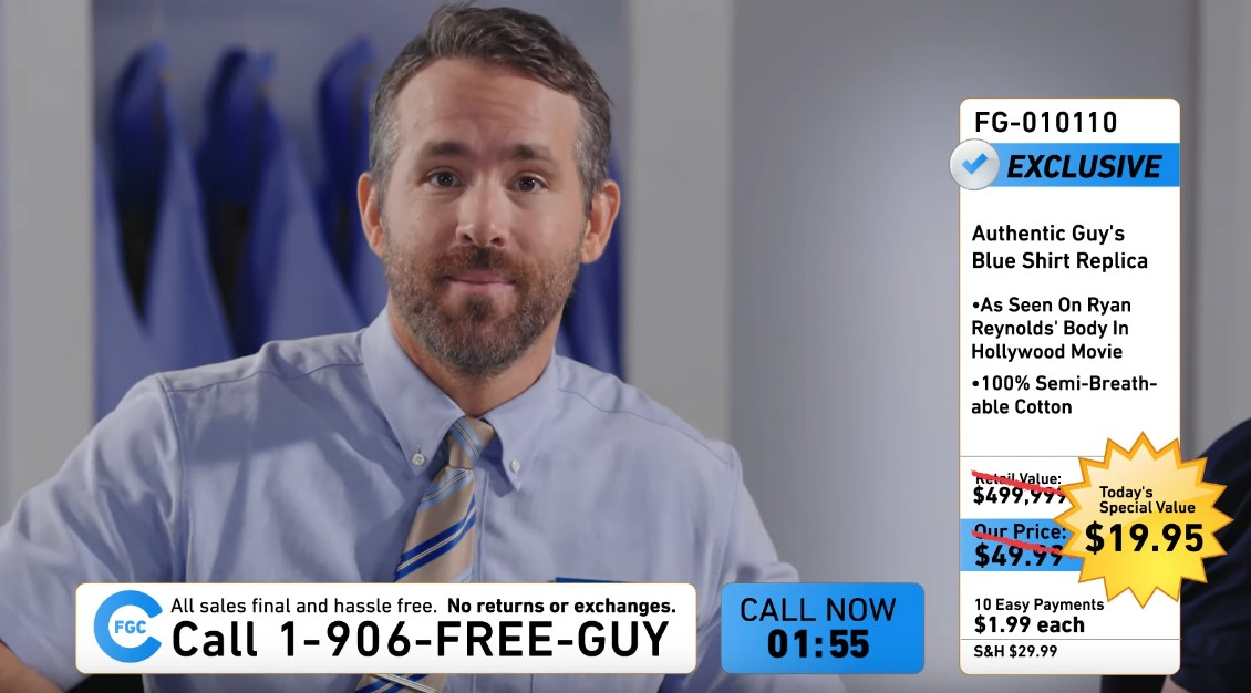 Ryan Reynolds Teases Free Guy Trailer with Fun Promo