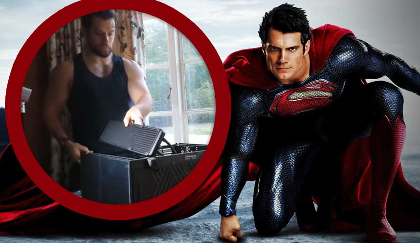 Watch Henry Cavill in a Tank Top Seductively Build a Gaming PC